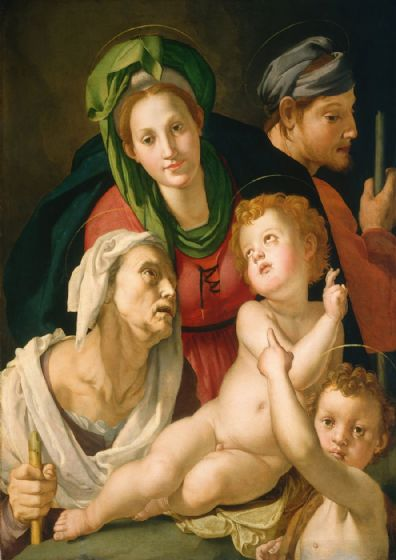 Bronzino, Agnolo: The Holy Family. Fine Art Print/Poster. Sizes: A4/A3/A2/A1 (001978)